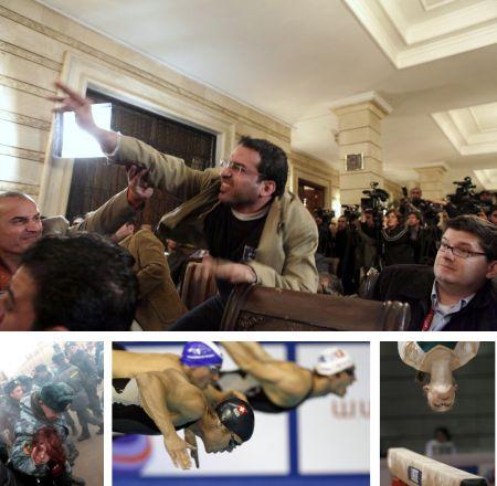 Bagdhad, Irak; Moskau, Russland; Rijeka, Kroatien; Madrid, Spanien. Klick auf Bild für Vollansicht (Bilder Keystone)