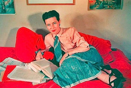 Gisèle Freund: Simone de Beauvoir, Paris, 1952