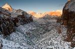 Lower Zion Canyon, etwa um sieben Uhr dreissig. (Bild © PS)