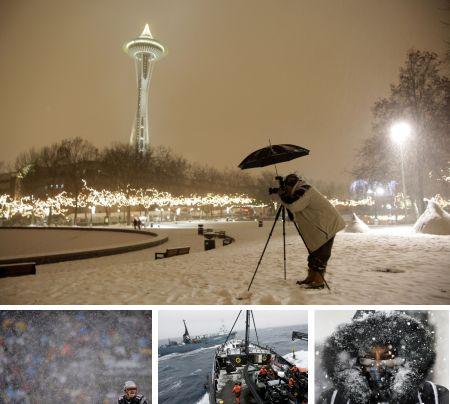 Seattle, USA; Foxborough, USA; Antarktika; Montreal, Kanada. Klick für Vollansicht (Bilder Keystone)
