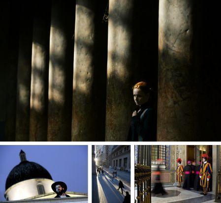 Bethlehem, Israel; London, England, New York, USA; Vatikan. Klick für Vollansicht. (Bilder Keystone)