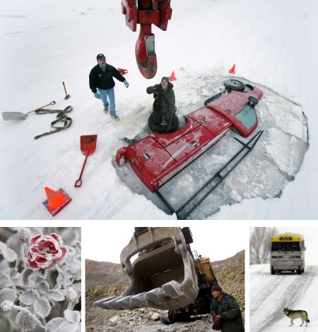 Fairbanks, Alaska, USA; Pamplona, Spanien; Radovis, Mazedonien, Yellowstone Nationalpark, Wyoming, USA. Klick für Vollbild (© Keystone)