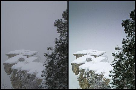 Vorher / nachher: Ein 8-Megapixel-JPG aus der Ixus vor und nach einer Behandlung von rund 30 Minuten in Adobe Lightroom. (Alle Bilder © ps)