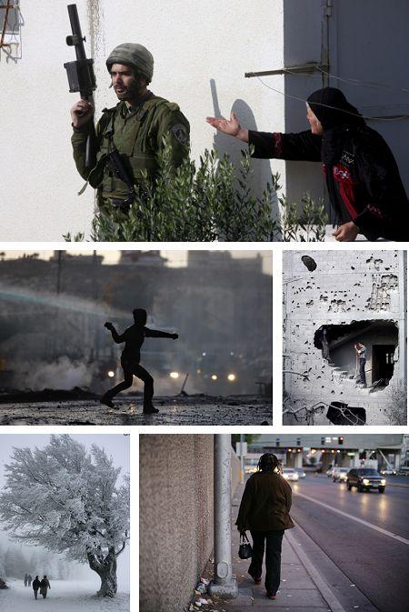 Jayous , West Bank, Israel; Jerusalem, Israel; Jabaliya, Gaza, Israel; Schauinsland, Deutschland; Las Vegas, USA. Klick für Vollansicht. (Bilder Keystone)