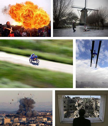 Jammu, Indien; Rotterdam, Niederlande; Argentinien; Innsbruck, Österreich; Gaza, Israel. Klick für Vollbild (Keystone)