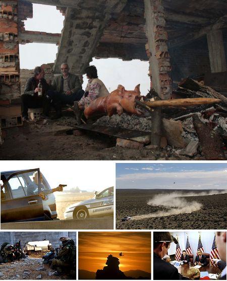 Srbrenica, Bosnien-Herzegowina; Normal, Ill., USA; Argentinien; Gazastreifen, Israel; Mexico bei Tijuana; Washinton, USA. Klick für Vollansicht (Keystone)