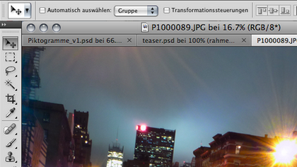 Tabs in CS4: wie im Browser zwischen Bildern wechseln.