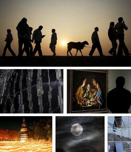 Suryapet, Indien; Peking, China; Madrid, Spanien; Wat Maheyong, Thailand; Manila, Philippinen; Madrid. Spanien. Klick für Vollansicht (Bilder Keystone)