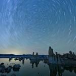 Rick Trautner's Sternstreifen über Mono Lake.