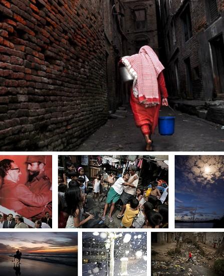 Bhaktapur, Nepal; Havanna, Kuba; Manila, Philippinen; Kourou, Franz. Guyana; Gaza; Stans, Schweiz; Islamabad, Pakistan. Klick für Vollansicht (Bidler Keystone)