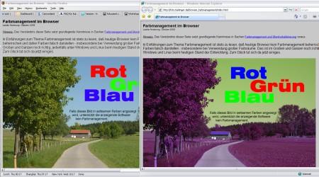 Das Farbverschiebungs-Beispiel von Andreas Beitinger: Das gleiche Bild, links im FF mit Farbmanagement, rechts im IE 8. (Klick aufs Bild führt zu Beitingers Site. Danke Toasti)