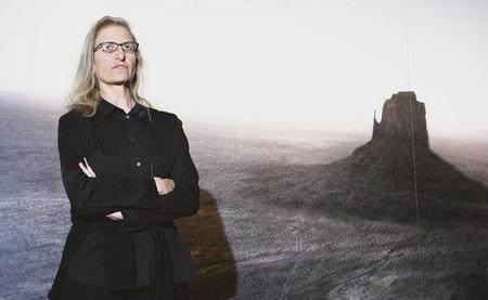 Annie Leibovitz an der Eröffnung der Ausstellung in Berlin (Bild Keystone/ AP / Michael Sohn)