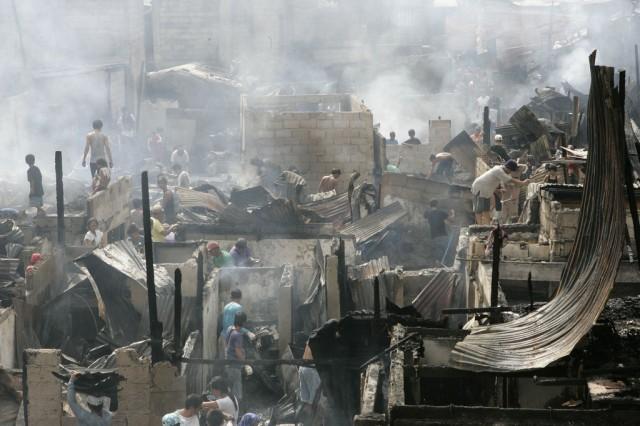 Feuer in Manila (Keystone)
