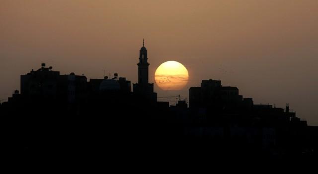 Sonnenuntergang in Amman (Keystone)