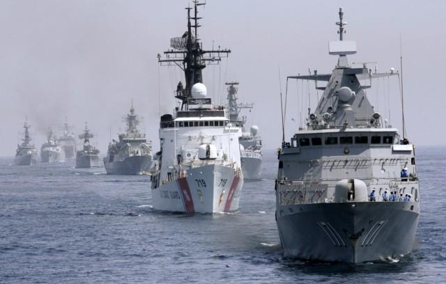 Kriegsschiff-Verband (Keystone)