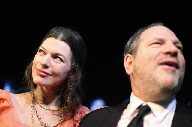 Harvey Weinstein und Milla Jovovich (Keystone)