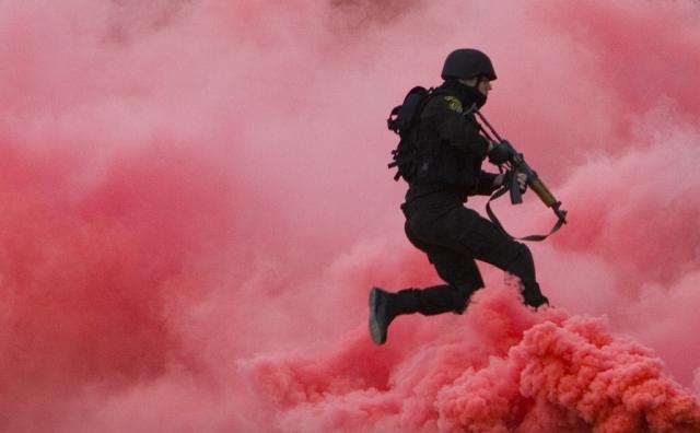 Palästinensischer Polizist (Keystone)