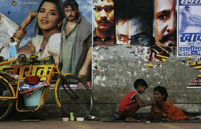 Armut in Mumbai (Keystone)