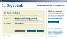 Anmeldung bei der Gigabank