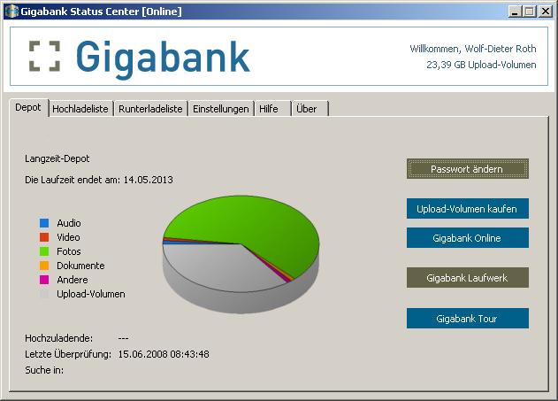 Gigabank im Test: Das Online-Bildarchiv