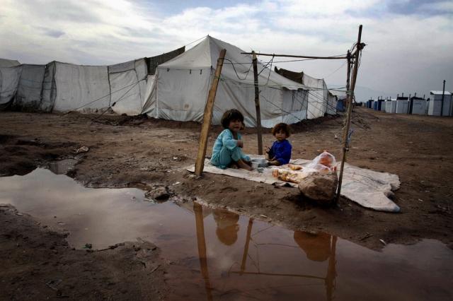 Pakistanische Flüchtlingskidner (keystone)