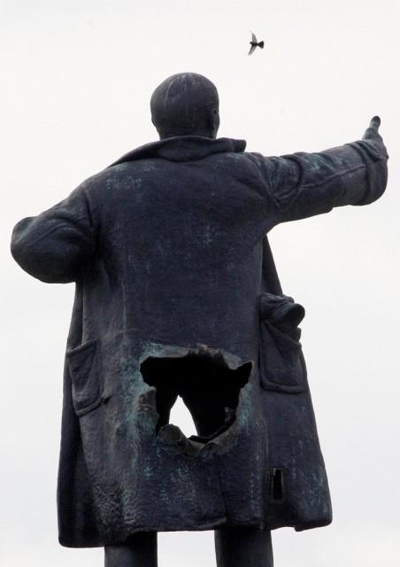 Lenin mit Loch (keystone)