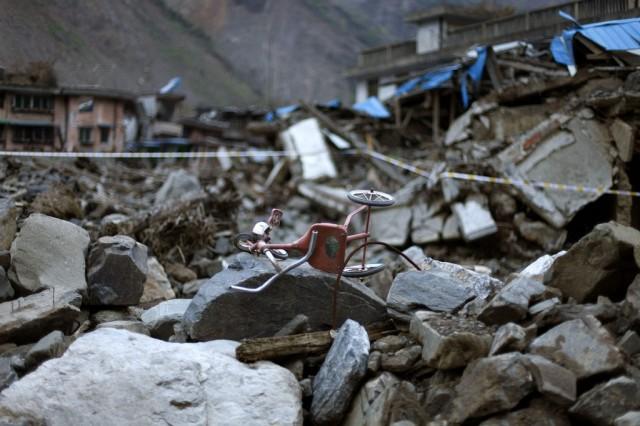 Erdbebentrümmer in China (keystone)