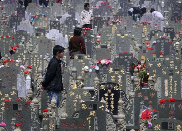 Totengedenktag in China (keystone)
