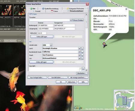Geotagging mit den Koordinaten aus den Exif-Daten