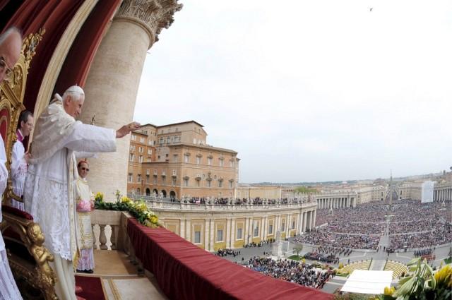 Papst urbi et orbi (Keystone)