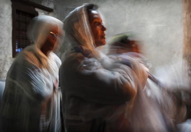 Orthodoxe Christen aus Äthiopien (Keystone)