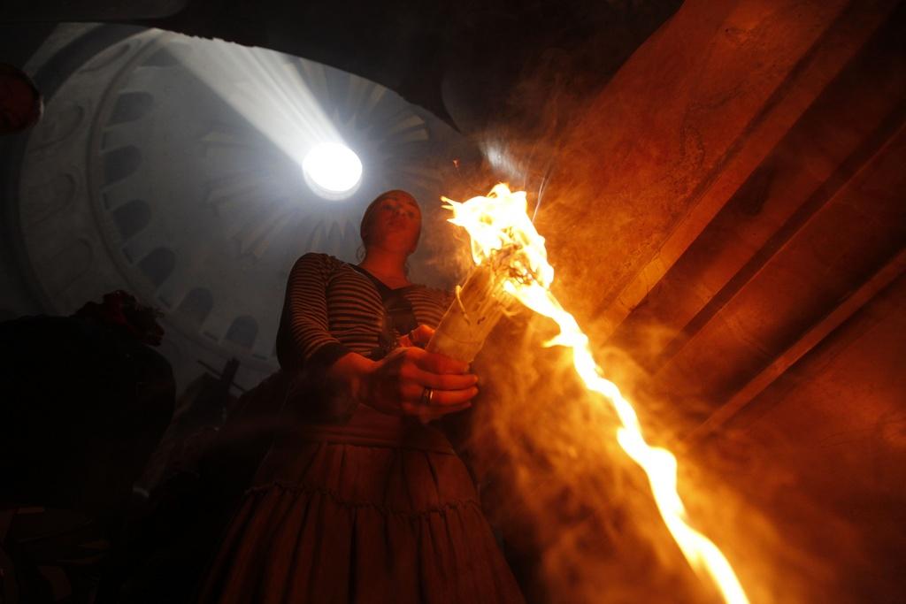 Äthiopisch orthodoxe Pilger (Keystone)
