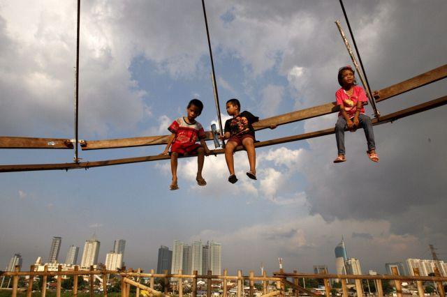 Indonesische Kinder (Keystone)