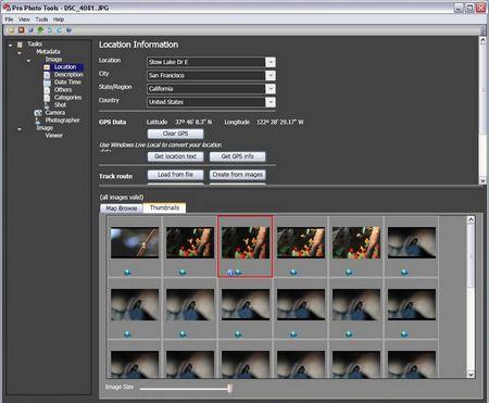 Microsoft Photo Pro Tools: Hier erscheint immer eine Straßenadresse.