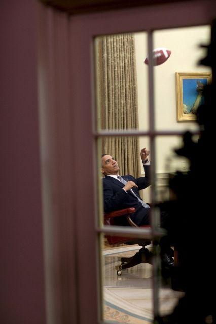 Päsident Obama im Oval Office (Keystone )