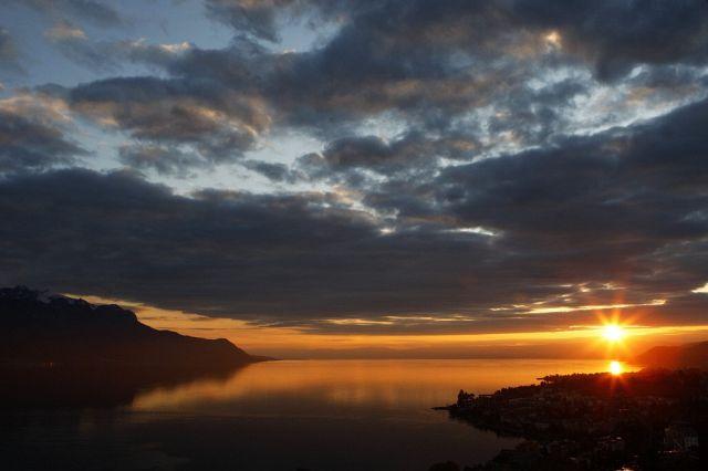 Sonnenuntergang Am Genferseee (Keystone)