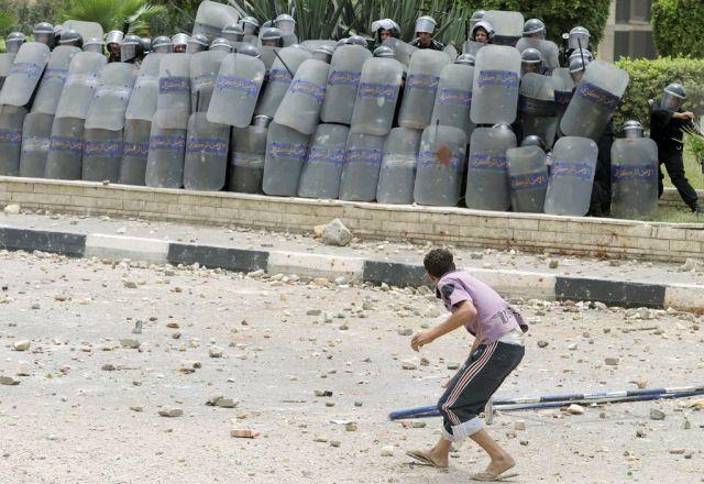 Schweinebauern protest in Ägypten. (Keystone)