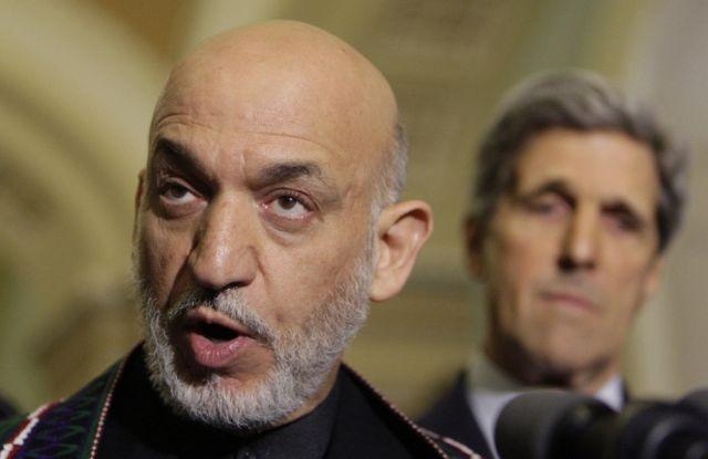 Hamid Karzai und John Kerry (keystone)