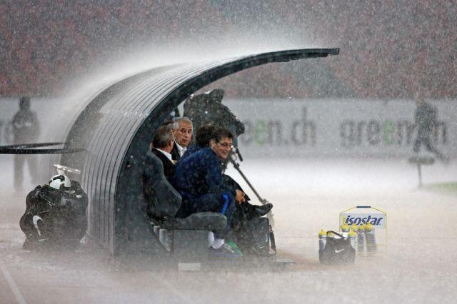 FCZ im Regen (Keystone)