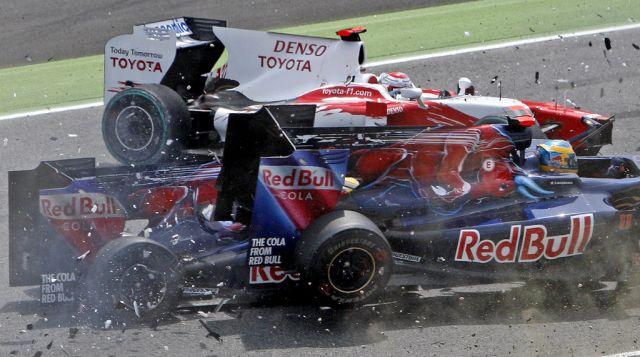 Kollision der Formel 1(keystone)