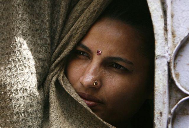 Hindu-Frau in Karachi (keystone)