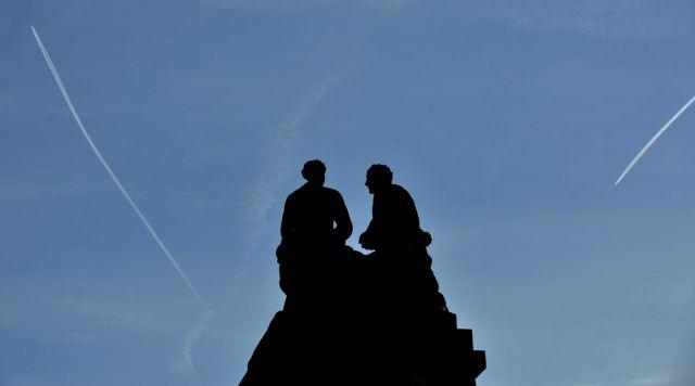 Sandsteinskulpturen in Dresden (keystone)