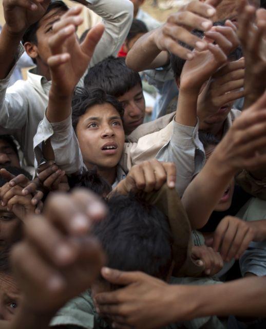 Flüchtlinge im Chota Lahore-Lager (keystone)