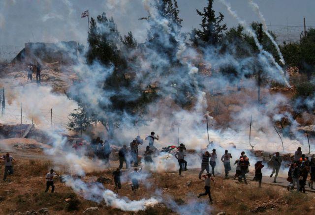 Tränengas in Palästina (keystone)