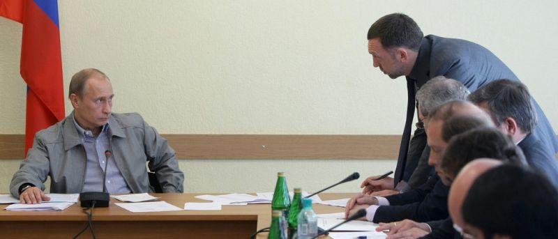 Putin und Deripaska (keystone )