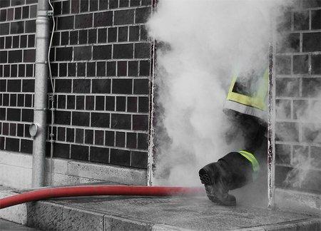 Feuerwehr-Aktion: Rot und Rauch