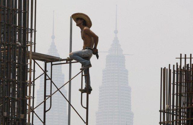 Bauarbeiter Malaysia (keystone)