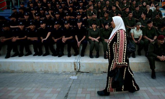 Palästinensische Polizei (keystone)