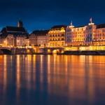 Basel, Grossbasler Seite, bei Nacht © PS