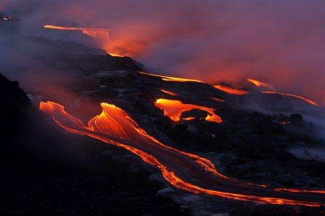 Vulkan Lavafluss auf Hawaii (keystone)